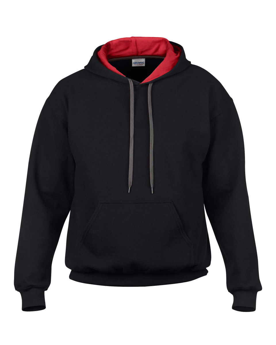 Men's Heavy Blend Contrast Hooded Swea...