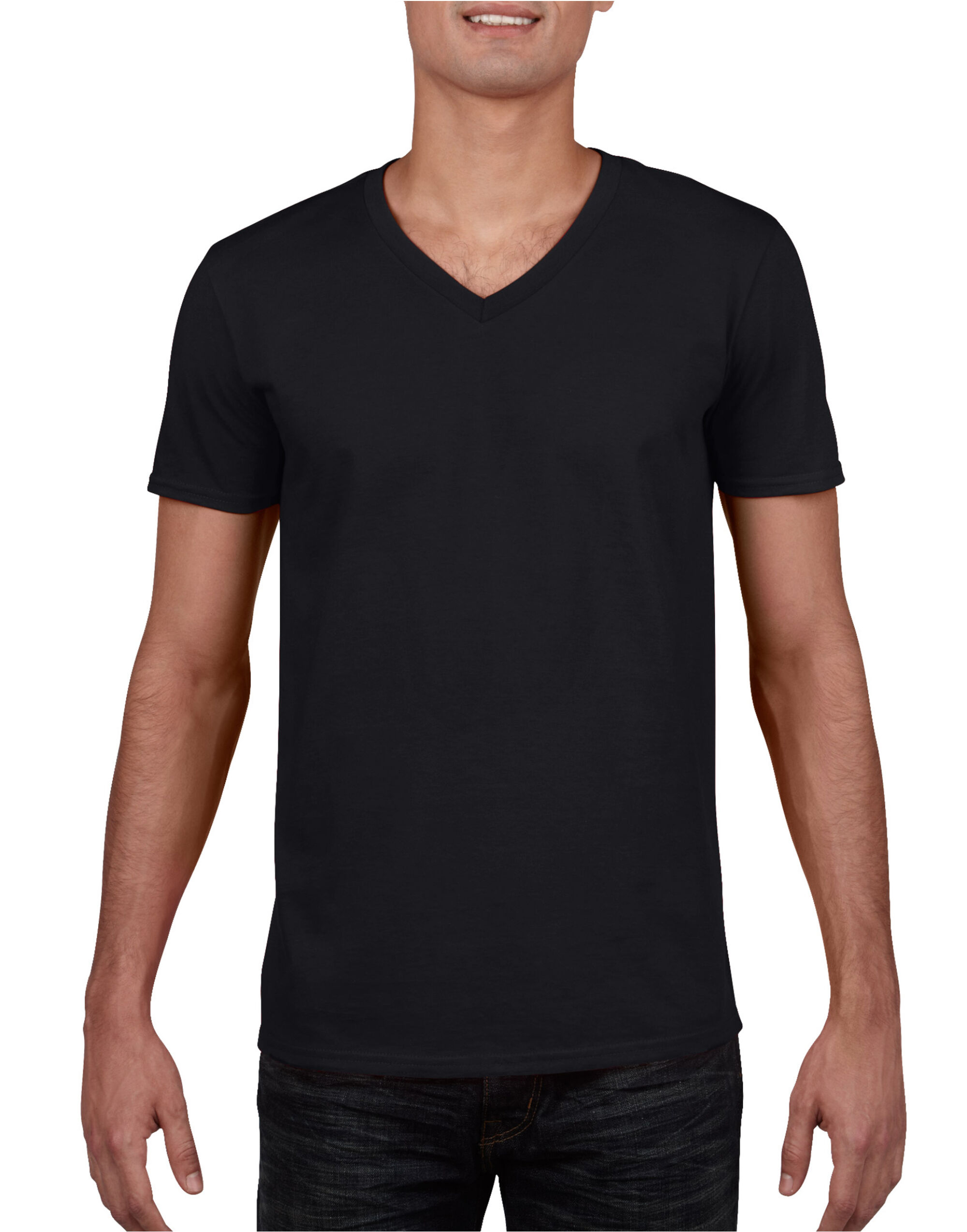 Men 39 s soft style v neck t shirt gildan mens short sleeve t for Gildan v neck t shirts for men