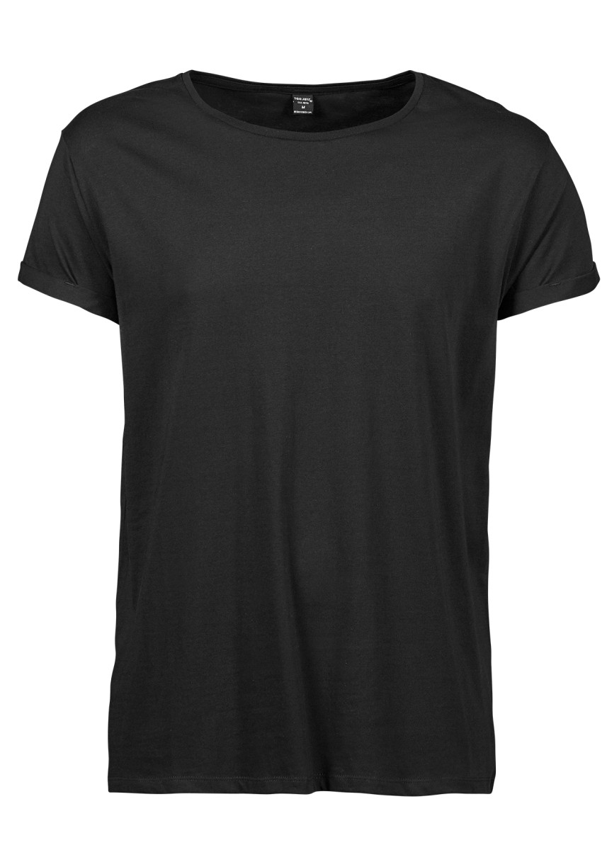 Tee Jays Mens Roll Up Sleeve Tee