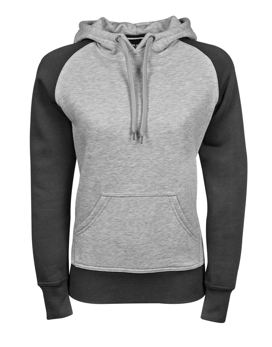 Tee Jays Ladies Two-tone Hooded Sweat