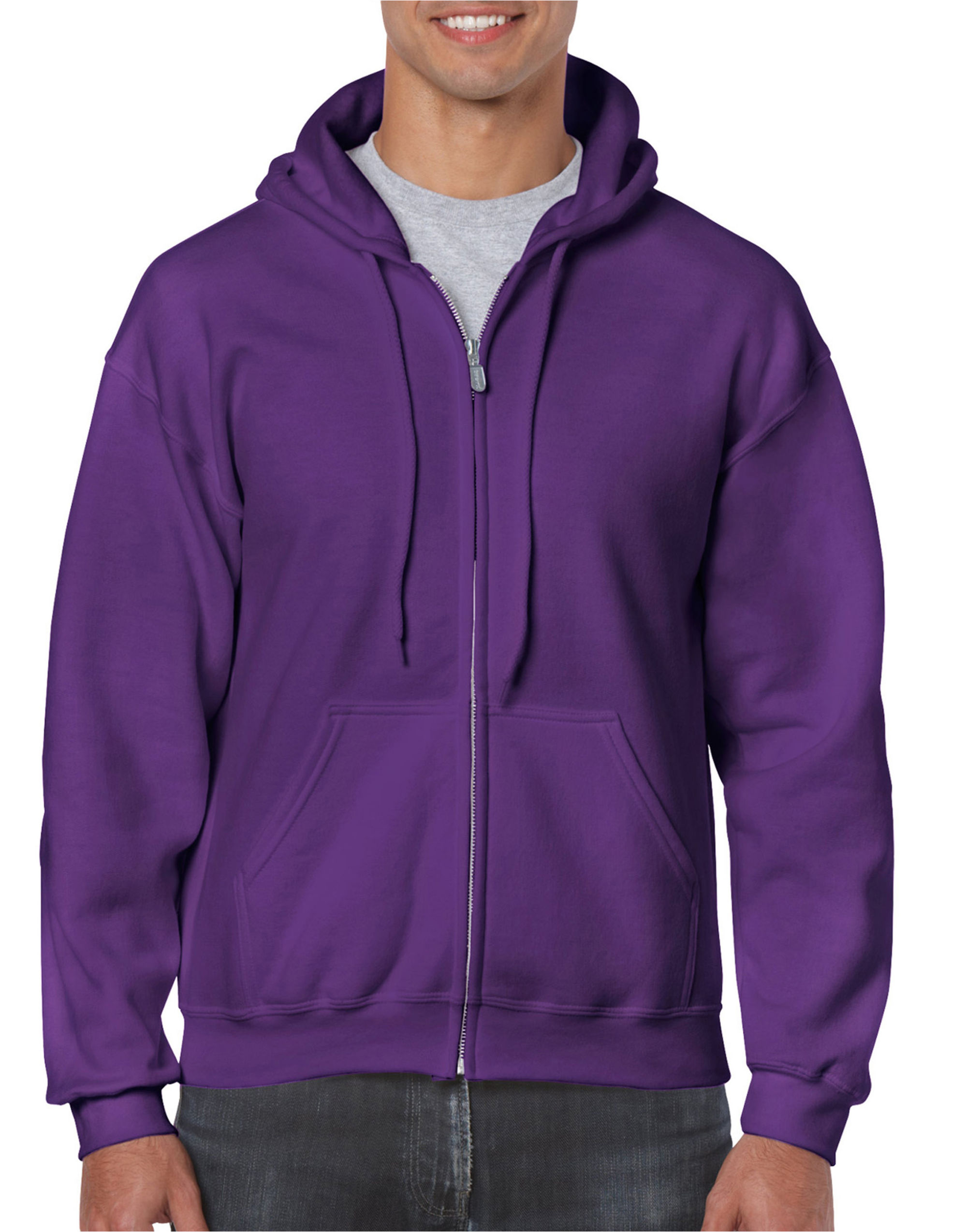 Heavy Blend  Adult Full Zip Hooded Sweatshirt