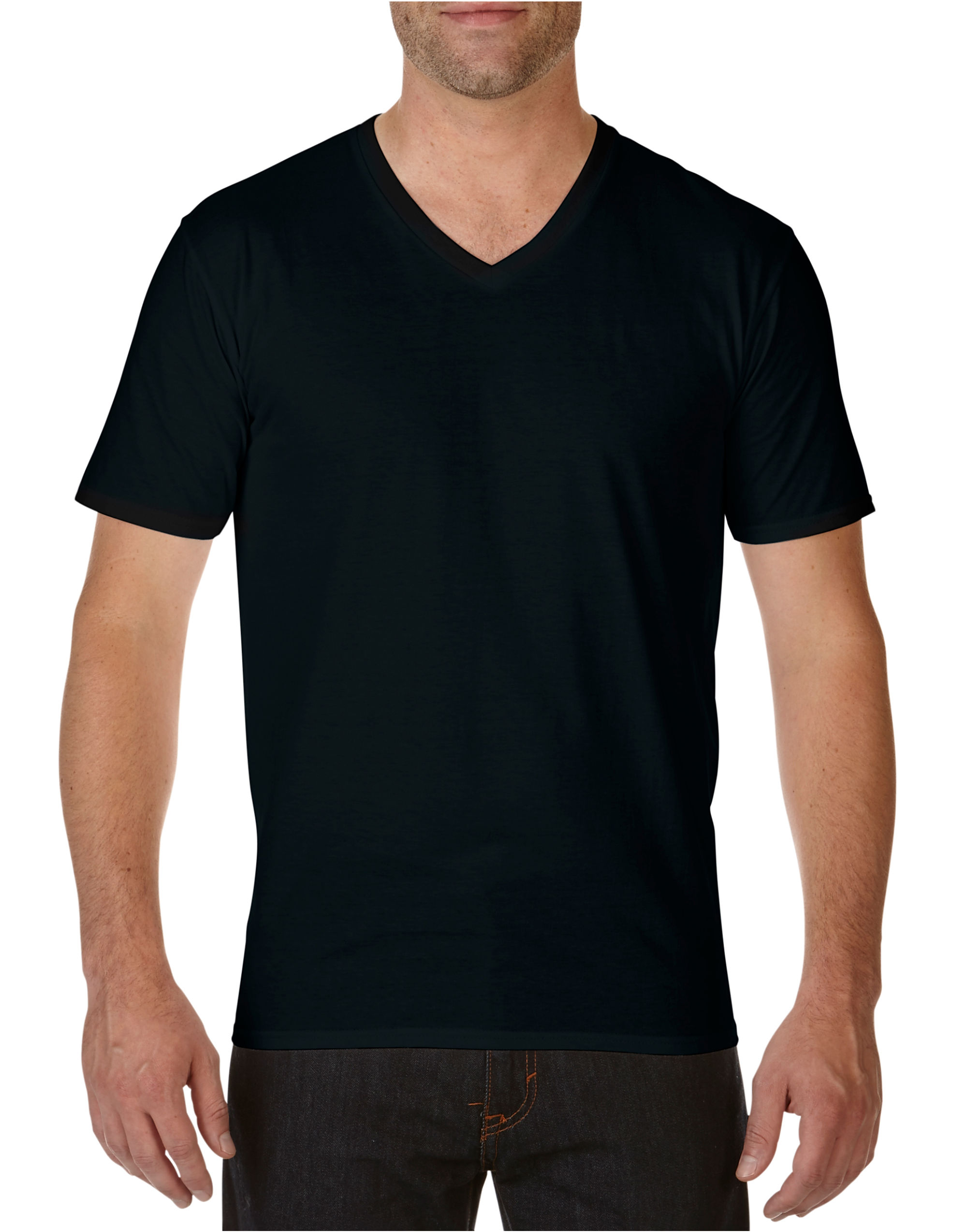 Premium Cotton V Neck Tee