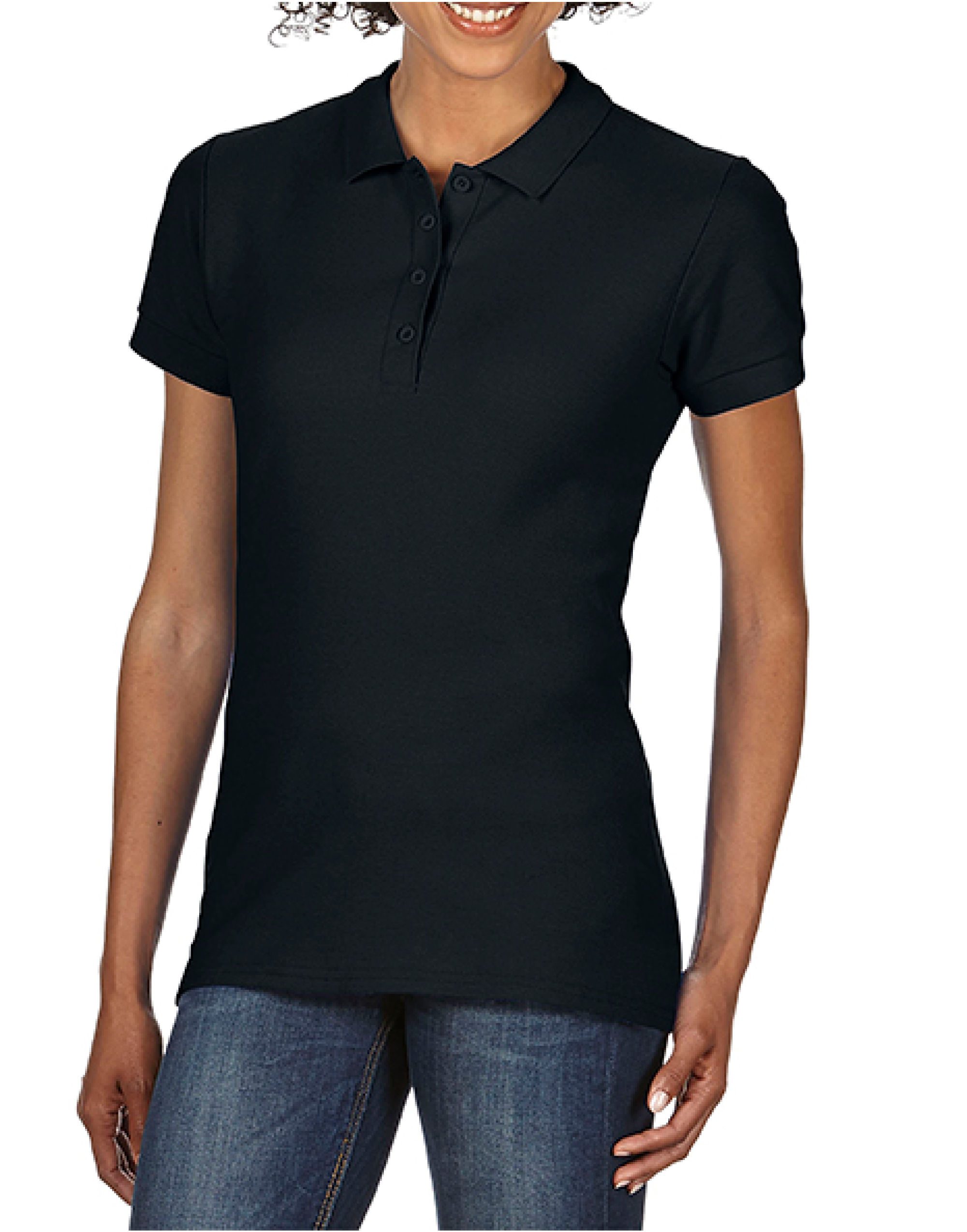 S/tstyle Ladies Double Pique Polo