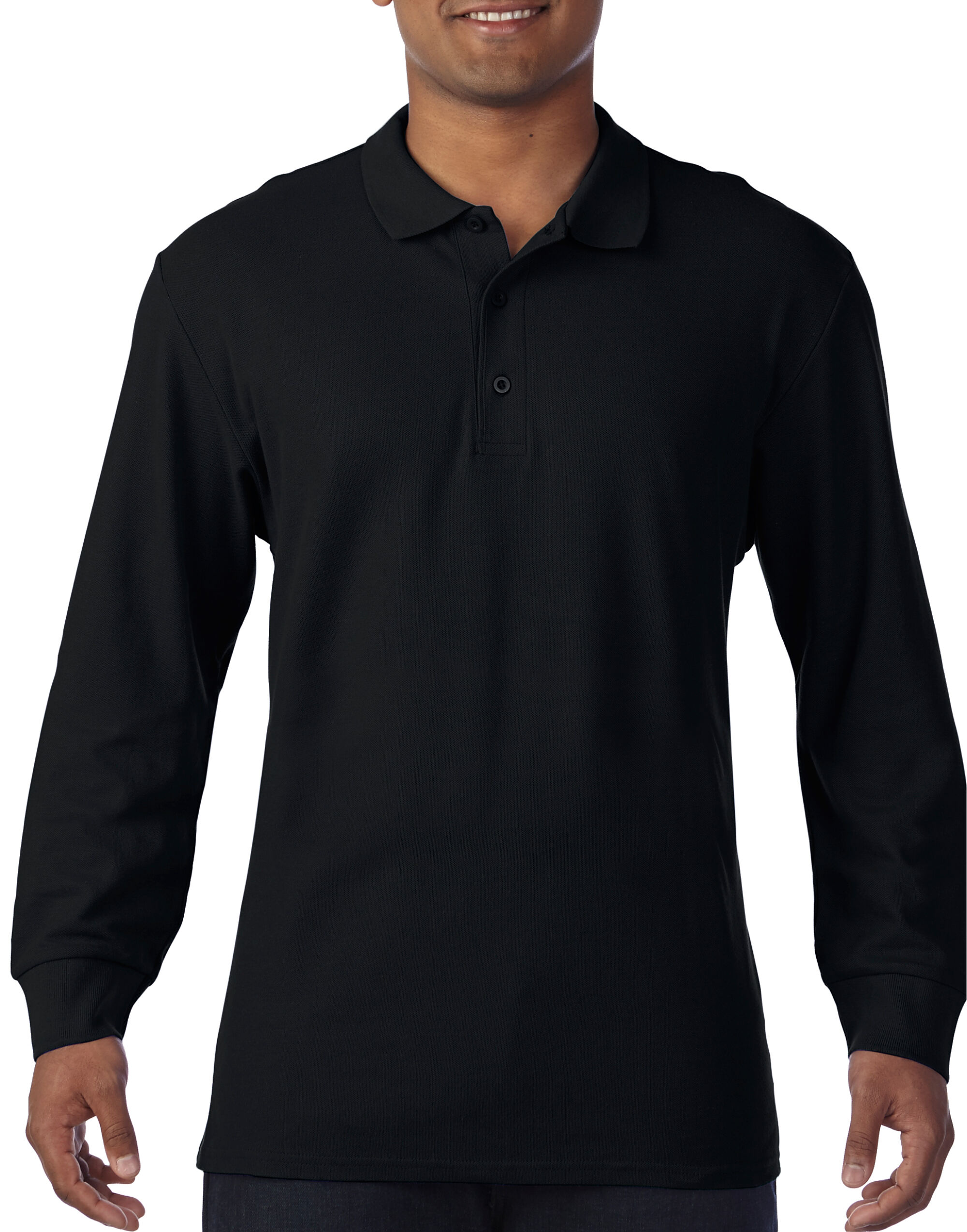 Premium Cotton L/Sleeve Polo