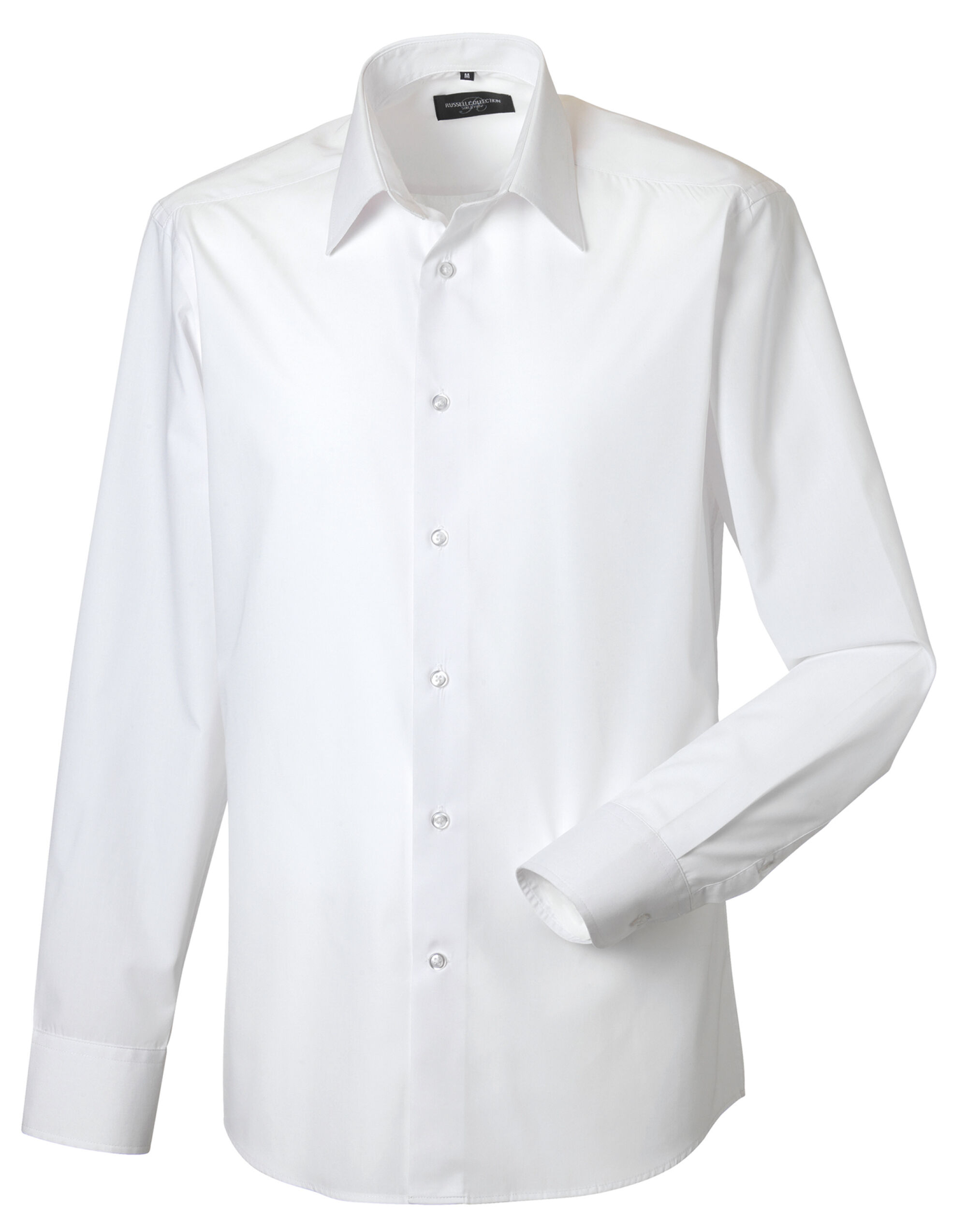 Men's Long Sleeve Poly-Cotton Easy Care Tailored Poplin Shirt