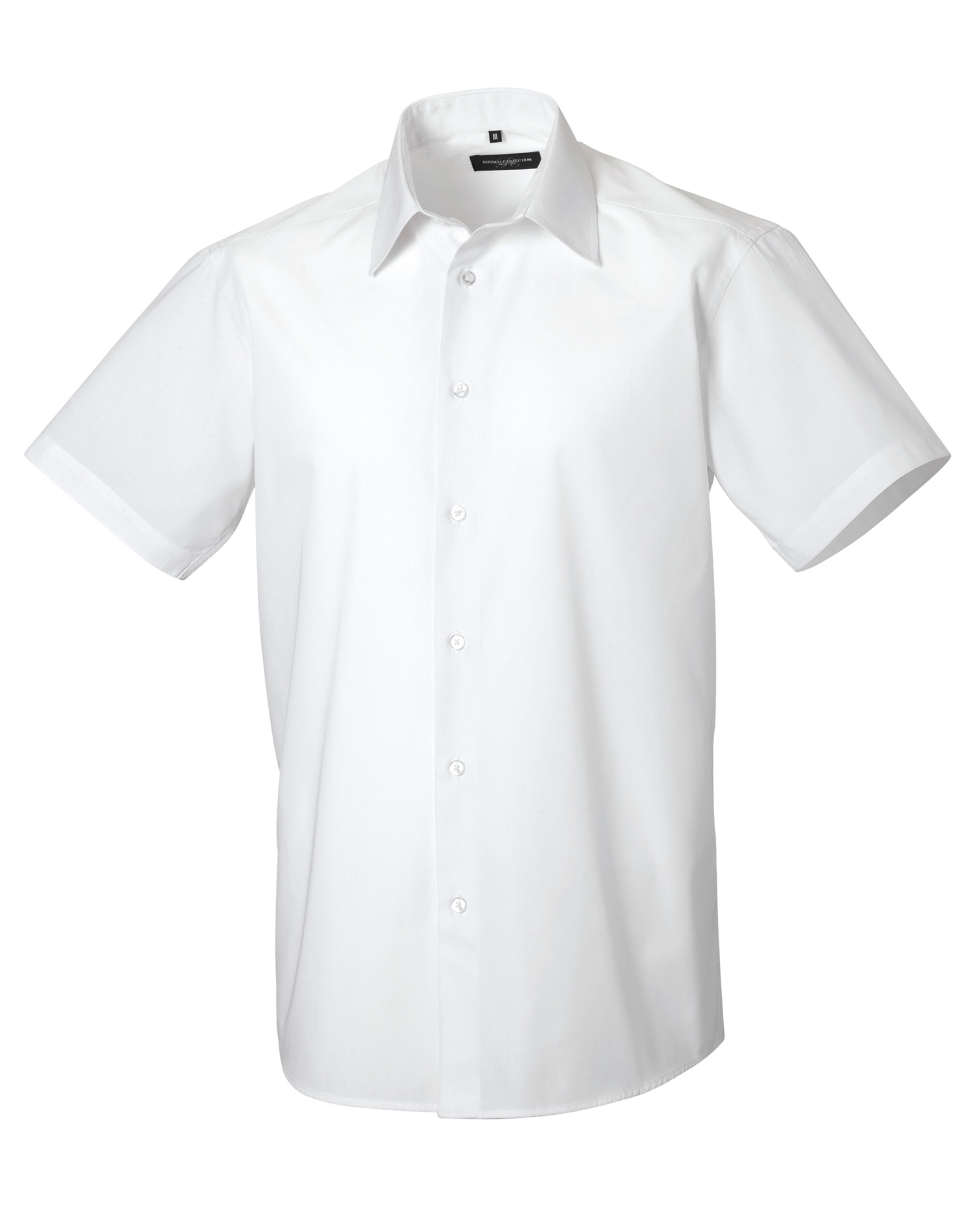 Men's Short Sleeve Poly-Cotton Easy Care Tailored Poplin Shirt
