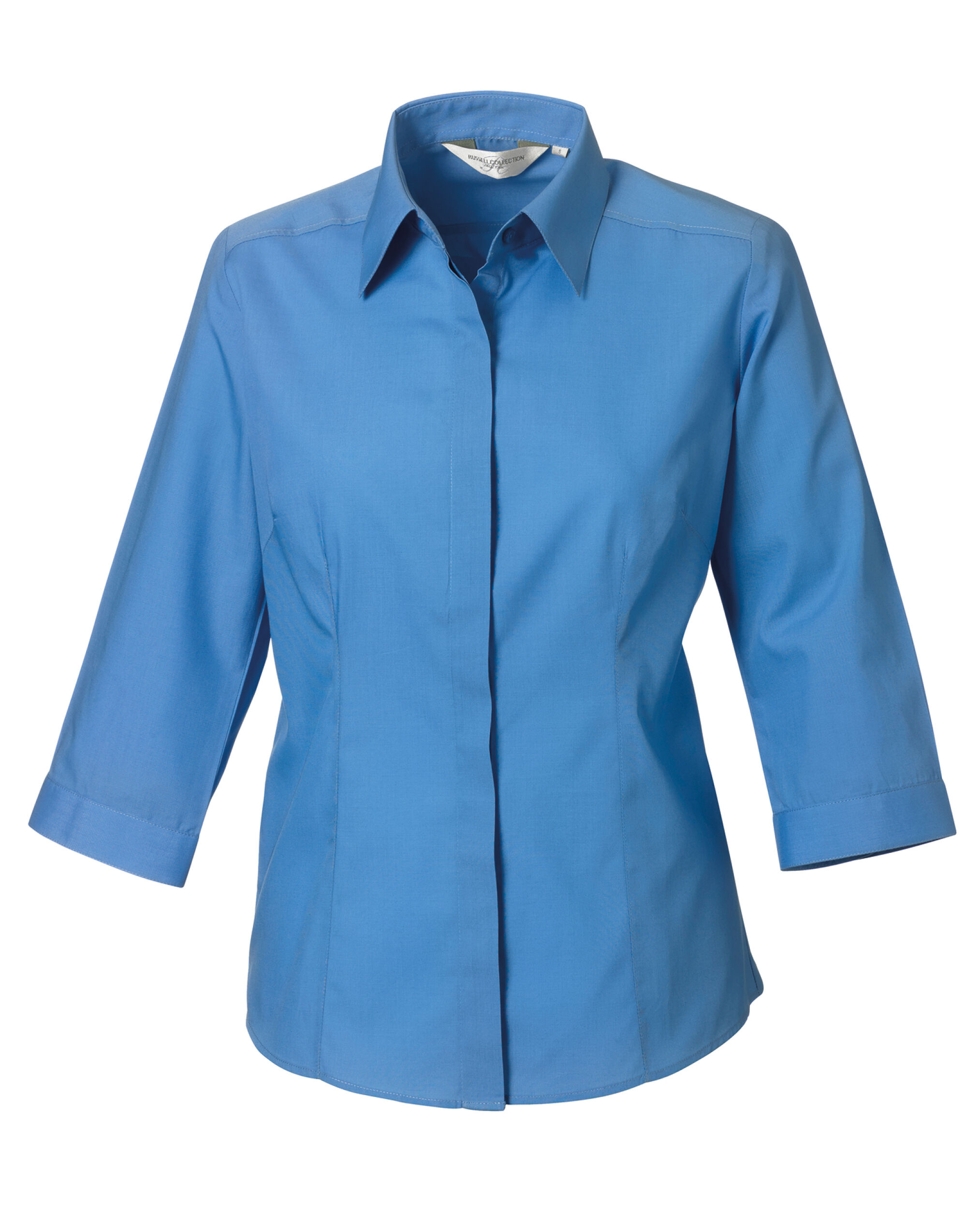 Ladies' 3/4 Sleeve Poly-Cotton  Easy Care Fitted Polin Shirt