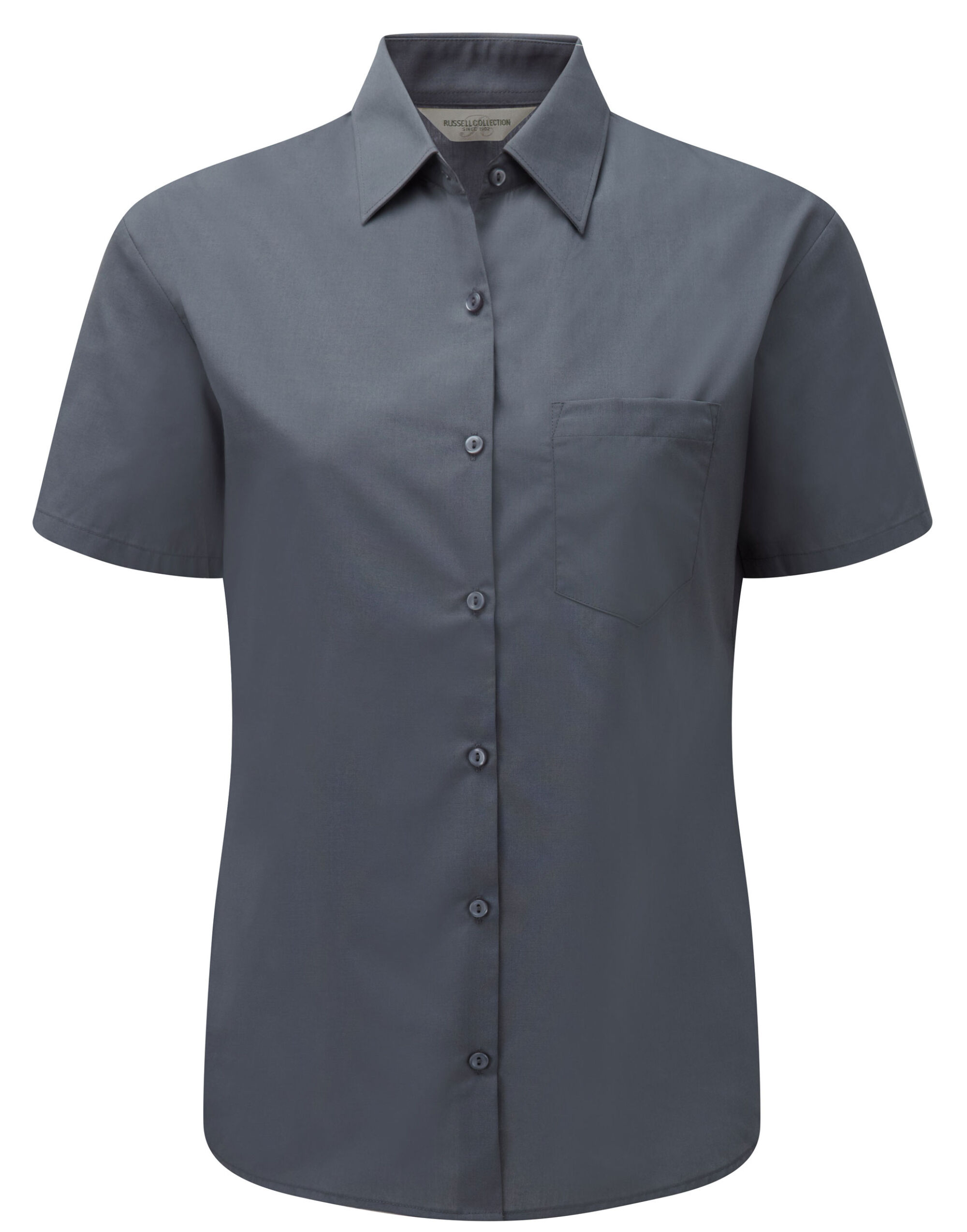 Russell Col Lady S/S PolyCot Poplin Sht