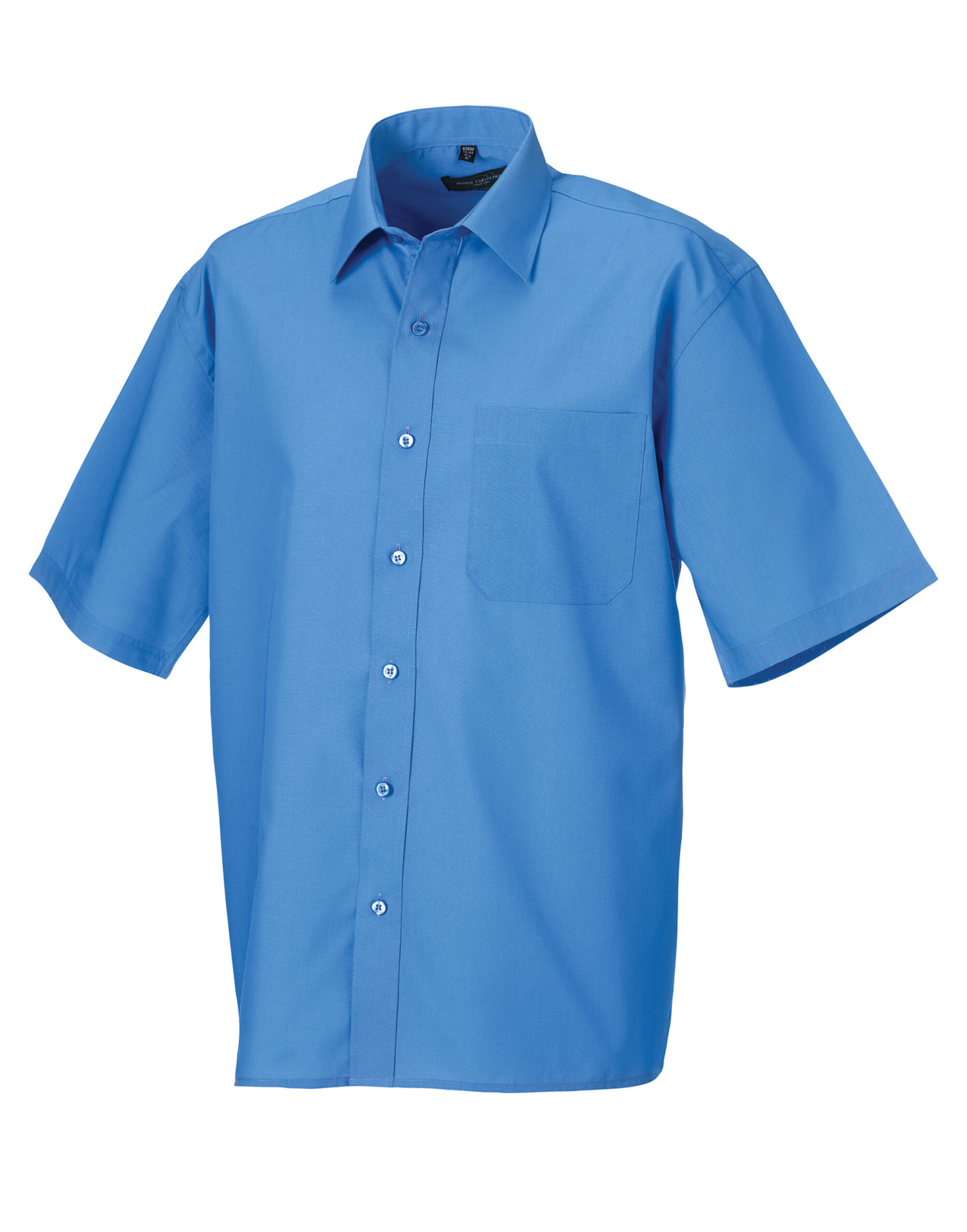 Men's Short Sleeve Polycotton Easy Care Poplin Shirt