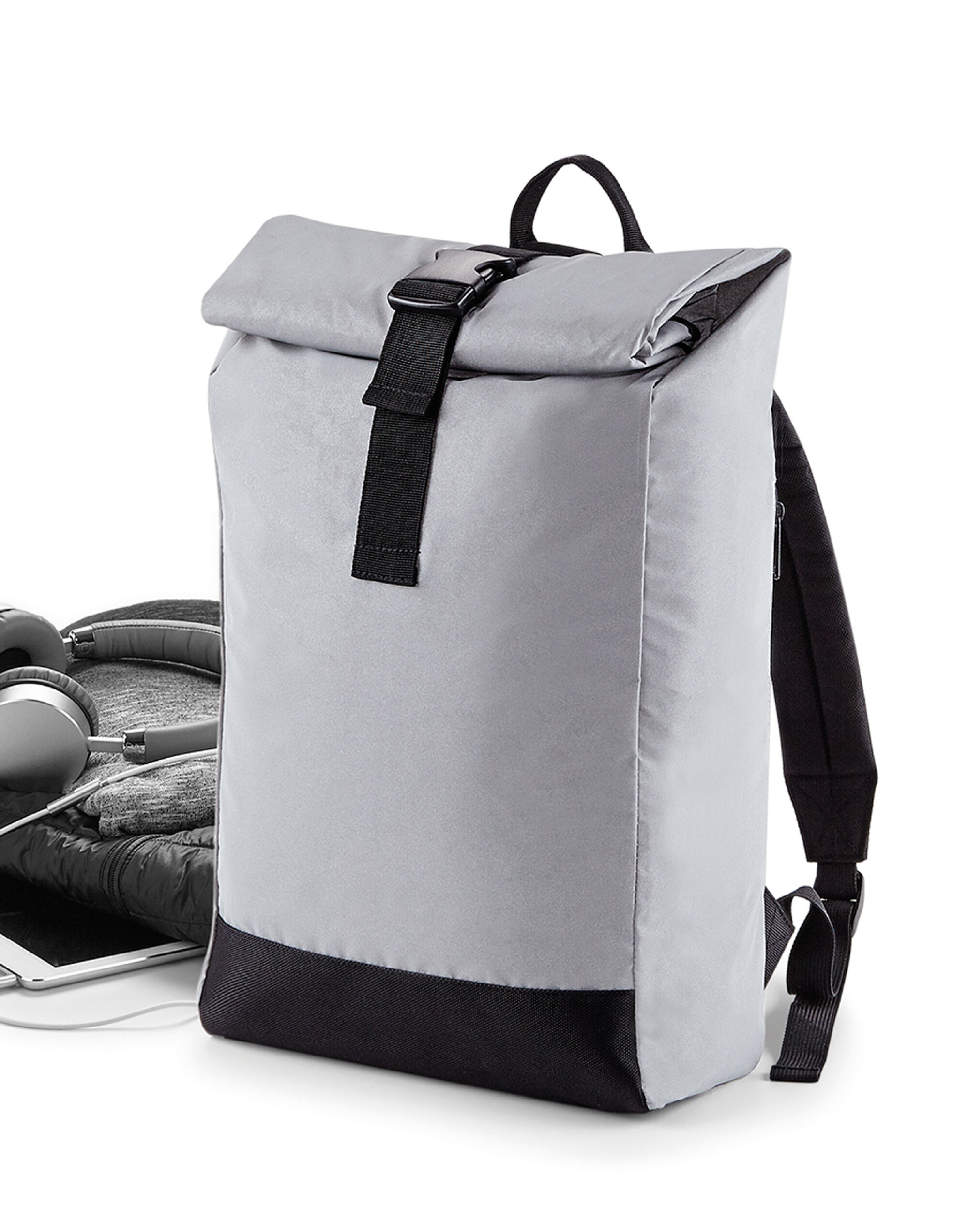 Reflective Roll Top Backpack