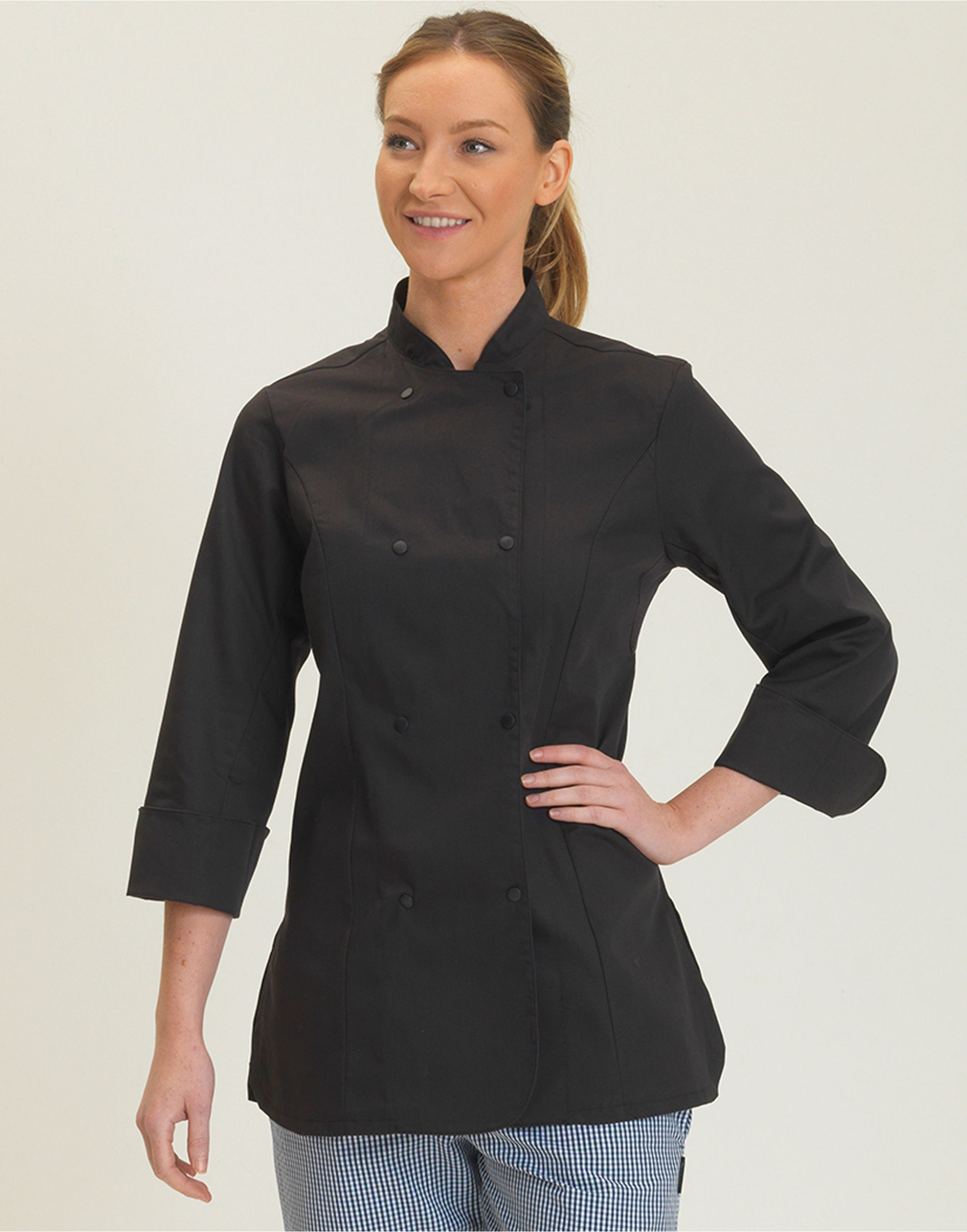 Ladies L/Sleeve Chefs Jacket