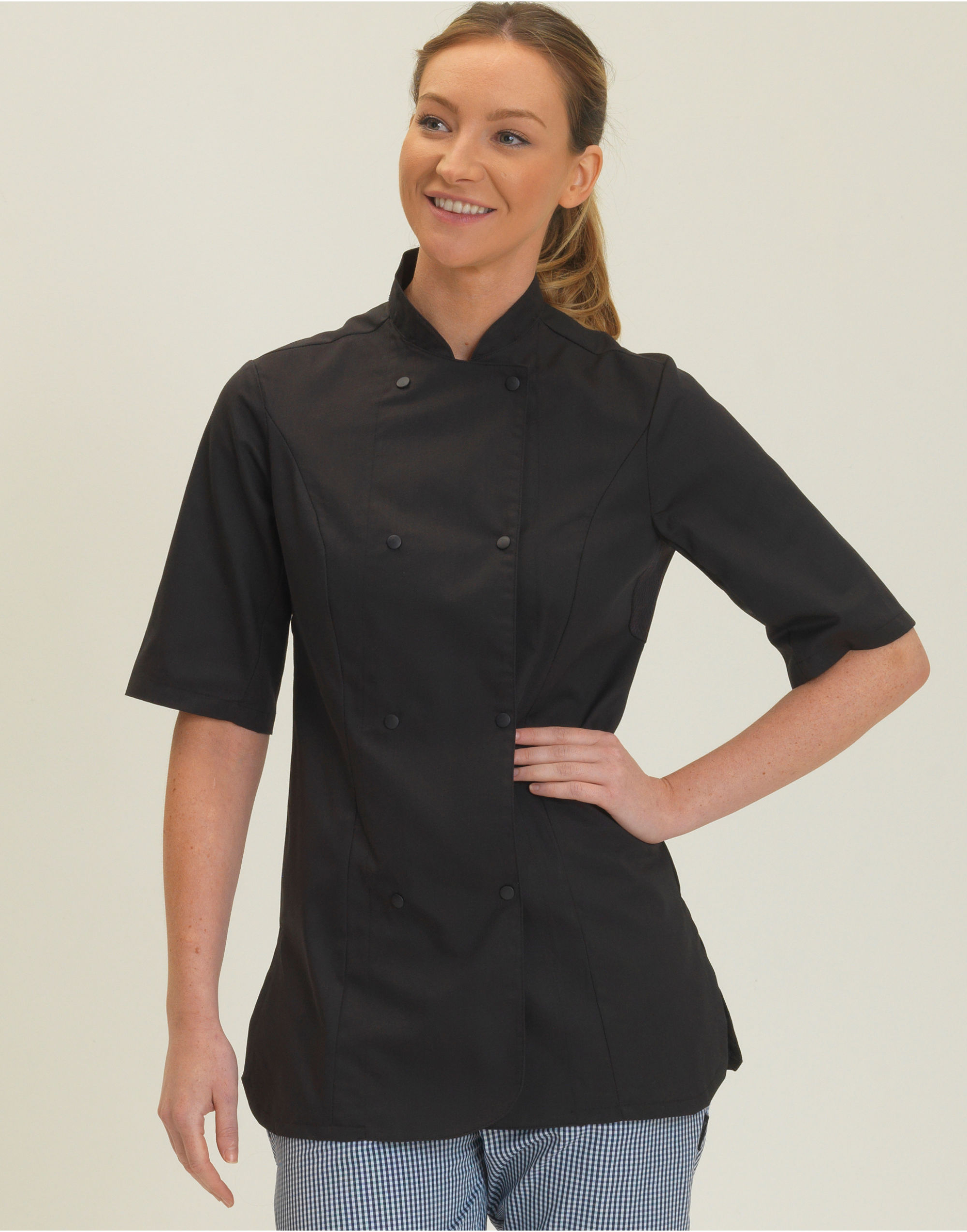 Ladies S/Sleeve Chefs Jacket