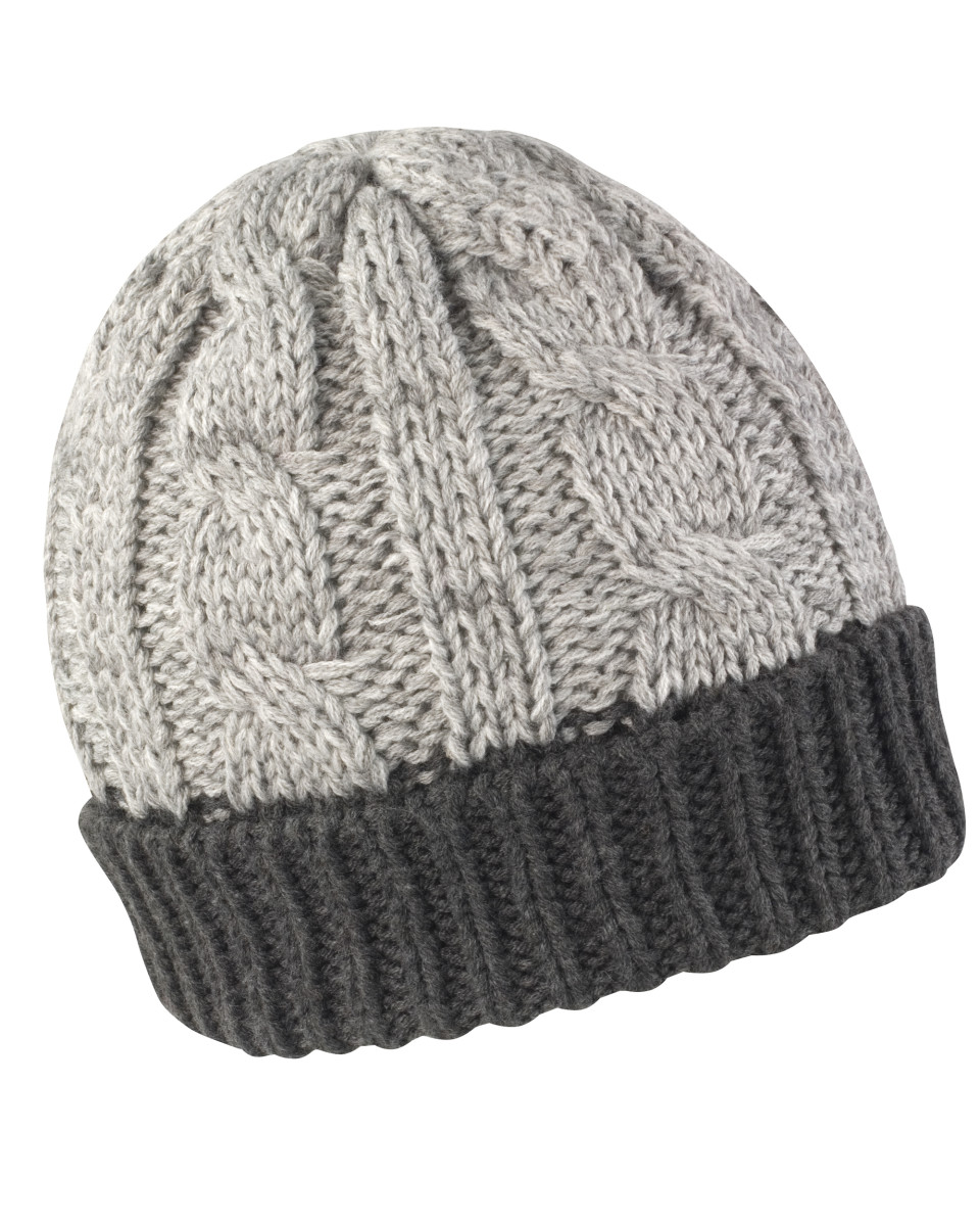 Result Winter Shades Of Grey Knit Hat