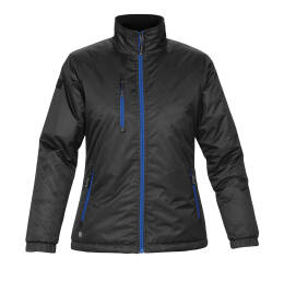 (GSX-2W) Stormtech Ladies Axis Jacket Black/Sport Red Size 2XL