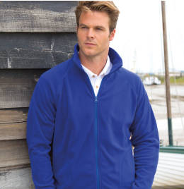 (R114X) Core Men's Micron Fleece Jacket Navy Blue Size XL