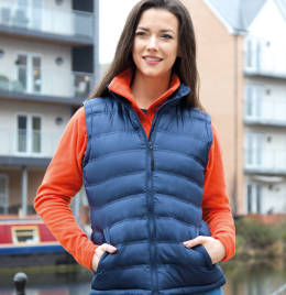 (R193F) Result Urban Lady Ice Bird Padded Gilet Frost Grey Size L