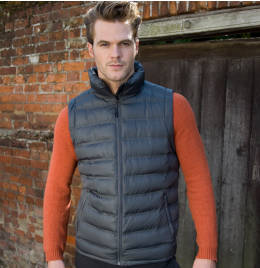 (R193M) Result Urban Mens Ice Bird Padded Gilet Black Size S