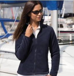 (R220F) Result Core Ladies Fashion Fit Fleece Navy Blue Size L