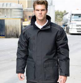 (R305X) Result Workguard Vostex Long Coat Black Size 3XL