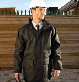 (R307M) Result Workguard Mens Platinum Jacket Black Size XL