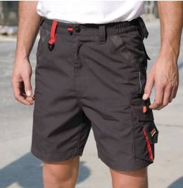 (R311X) Result Workguard Technical Shorts Grey/Black Size XL