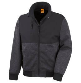 (R315X) Result Workguard Brink Stretch Jacket Marl Grey Size 2XL