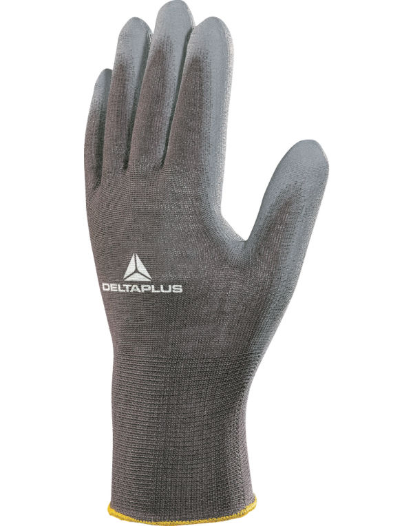 (VE702PG) Delta Plus Polyester Knitted Gloves Grey Size 10/XL